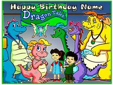 EDIBLE CAKE OR CUPCAKES IMAGE DRAGON TALES PARTY ICING SHEET TOPPER DECORATION