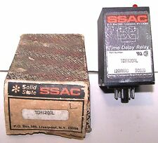 SSAC TDIL120AL Time Delay Relay 120VAC New Old Stock