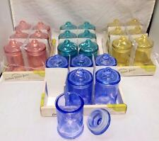 6 SET APOTHECARY Candy Lolly Buffet Coloured Glass Jars Wedding Party 370ml
