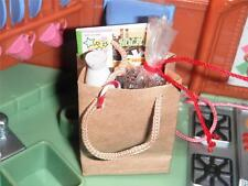 Rement Christmas Cookie Gift Bag Milk Magazine Lot fit Loving Family Dollhouse B