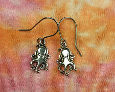 Octopus Earrings choose Sterling / Niobium / HypoAllergenic French / Leverback