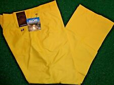 J LINDEBERG TROON Regular Fit Micro Twill Flat Front Golf PANTS, YELLOW, 38/30