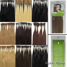16-24''Pre Bonded Fusion I Stick Tip Glue Remy Human Hair Extensions Beauty 100S