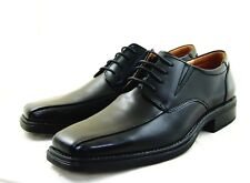 La Milano Men's Dress Shoes Genuine Leather, Square Bicycle Toe, sleek  A65617