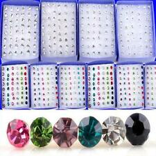 20 Pairs/40 Pcs  Crystal Earring Ear Studs Rhinestone Jewelry Colorful Crystal