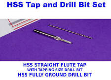 Drill & Tap Set > HSS Straight Flute Tap and Tapping HSS Drill Bit  M1 to M2.5