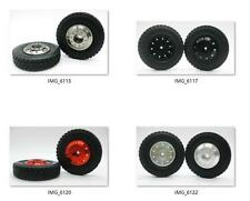 Hot 2 x 1/14 Front aluminum wheels rim Tires for RC Tamiya 1/14 Tractor Truck