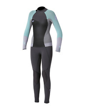 NEW Quiksilver Roxy Womens Blue Purple Syncro 4/3 Full Back zip Wetsuit s 2