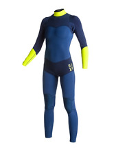 NEW Quiksilver Roxy Womens XY 4/3mm Back Zip Full Wetsuit Yellow/Navy