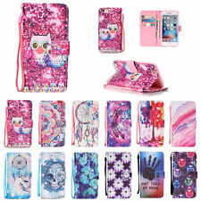 NEW PU Leather Smart Pattern Wallet & Hand Rope Cases Cover for Apple iPhone 7