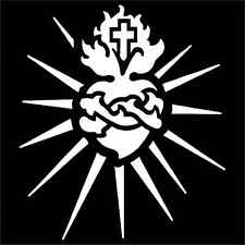 Sacred Heart Religious Vinyl Decal / Sticker 2(TWO) Pack