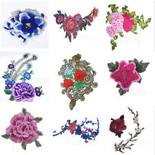 Floral Embroidered Applique 3D Collar Trim Patch Fabric Embellishment DIY Craft