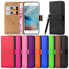 Apple iPhone Wallet Leather Flip Book Card Slots Stand Case Cover Pouch & Stylus