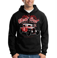 West End Race Shop Classic Hot Rat Rod Car Auto Racing Hooded Sweatshirt Hoodie