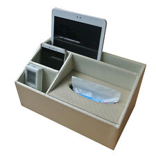 Multifunctional Desk Tidy Desk Organiser Tissue Box Holder Pen Pencil Holder