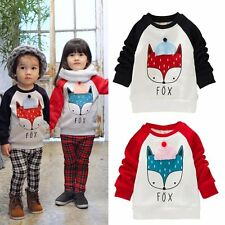 Baby Boys Girls Long Sleeve Cartoon Hoodies Jumper Coat Sweatshirt Pullover Tops