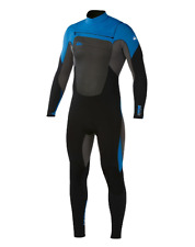 NEW Quiksilver MENS  SYNCRO 3/2 CHEST ZIP GBS Blue/Black