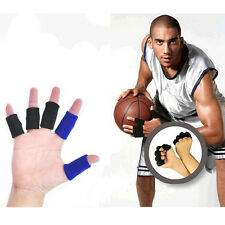Easy 10pc Soft Finger Sleeve Support Wrap Arthritis Guard Basketball Volleyball
