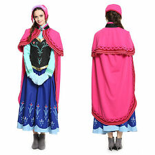 Frozen Snow Queen Princess Anna Embroidered Fancy Dress Costume Outfit