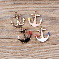 Wholesale Gold Tone Enamel Anchors Charms Pendant Jewelry DIY Making 24x29mm Hot