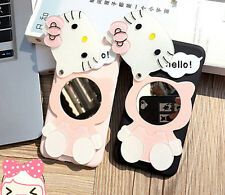 Hello Kitty Silicon Cover Case For iPhone 6/6S Plus 7 plus with Mirror Gift