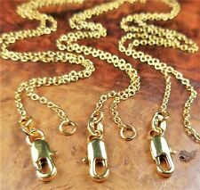 Gold Filled Necklace Chains - 18k Link Chain - 18 Karat Gold Necklaces Soldered