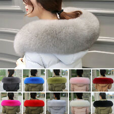 100% Home Real Fox Fur Collar Wrap Shawl Collar Down Coat UK Hood Trimming Scarf