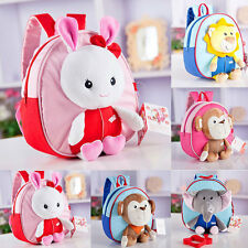New Girls Boys Kids Children Cartoon Kindergarten Anti-Lost Backpack School Bag