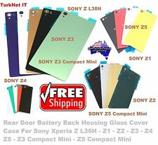 Sony Xperia Z L36H-Z1-Z2-Z3-Z4-Z5 All Back Rear Glass Housing Battery Cover Case