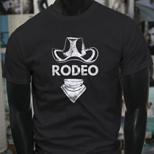 RODEO COWBOY HAT COUNTRY WESTERN WILD WEST TOUGH Mens Black T-Shirt