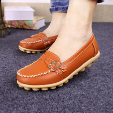Womens Oxfords Casual Shoes Leather Lady Ballet Loafers Boat Shoes Comfort Flats