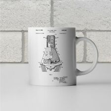 NASA Mercury Space Capsule Patent Art Mug Gift Travel Technology Astronaut Tea