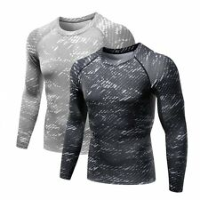 Men Compression Base Layer Tight Top Under Skin Long Sleeve Sport Yoga T-shirts