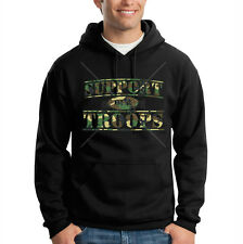 Support Our Troops Camo Camouflage USA Patriotic Hooded Sweatshirt Hoodie