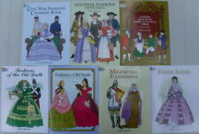 Historical Fashions Dover Coloring Book Medieval Colonial Victorian Paper Dolls