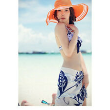 Ladies Fashion Chiffon Sexy Wrap Dress Sarong Beach Cover Up Scarf Swimming New