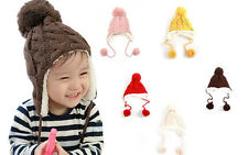 Trendy Winter Baby Beanie Hat Cap Warm Cute Kids Boys Girls Toddler Knitted NG