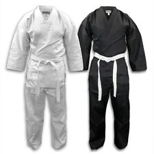 Student Lightweight Karate Uniform Gi w/ White Belt Tae Kwon Do NEW Martial Arts