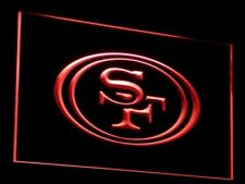 Man cave Football LED sign, SF 49ers Home bar Neon sports decor mens gift OnOff