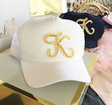 Bride Bridal Party Monogram Trucker Hat Cap Bachelorette Wedding Party Gift
