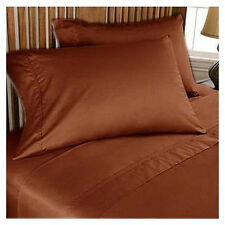 UK Home 100%Egyptian Cotton Bedding Sets 1000 TC Rust Solid UK All Sizes