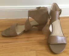 NINE WEST Taupe Nude High Heel Strappy Sandals US Sz 8M
