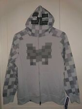 NWT Youth Kids Jinx Minecraft Costume Hoodie Gray Skeleton Face Game XS-S-L