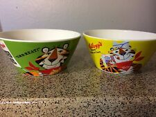 """Vintage Kelloggs 2006 Cereal Bowls 'Unused"""" Set of 2 Frosted Flakes"""