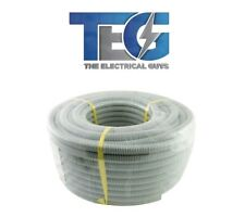 New Electrical Cable Corrugated Conduit 25mm x 25m Roll Grey UV-Protected