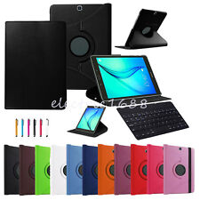 Bluetooth Keyboard +Rotating Case Leather Cover Fr Samsung Galaxy Tab A/E/S2/4/3
