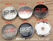 60MM OZ Emblem Wheel Center Cap OZ Sticker Wheel Cover Hub Caps 4pcs.