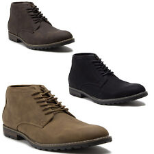 New Men's 17802 Leather Lined Ankle High Lace Up Desert Style Chukka Boots