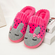 New Women Winter Shoes Cute Slippers Cotton Warm House Soft Bunny Slippers Plush