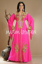 DUBAI VERY FANCY KAFTANS abaya jalabiya Ladies Maxi Dress New Wedding gown 3816
